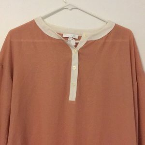 glam Tops - Glam blouse 3/4 button copper sparkle small blouse